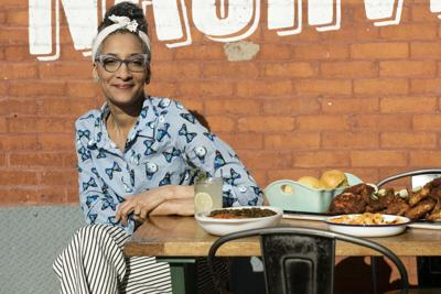 Celebrity chef Carla Hall cooks with Leah Chase in New Orleans