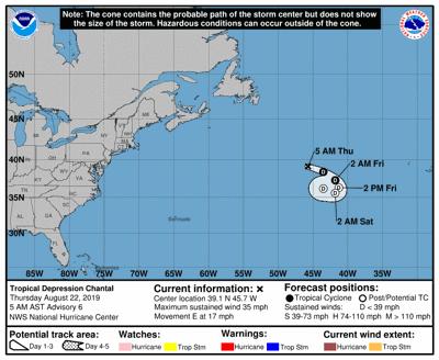 Tropical Depression Chantal 082219