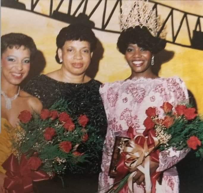 Higgins with friends at Bayou Classic 1986