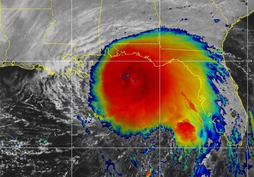 Hurricane Sally at 11 a.m. Monday on GOES satellite