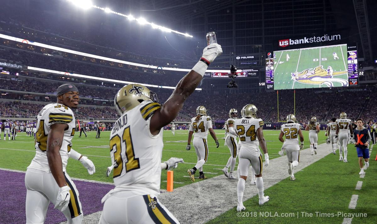 'Drinks on me!!!' Vikings fan throws beer can at Saints defense during end zone celebration