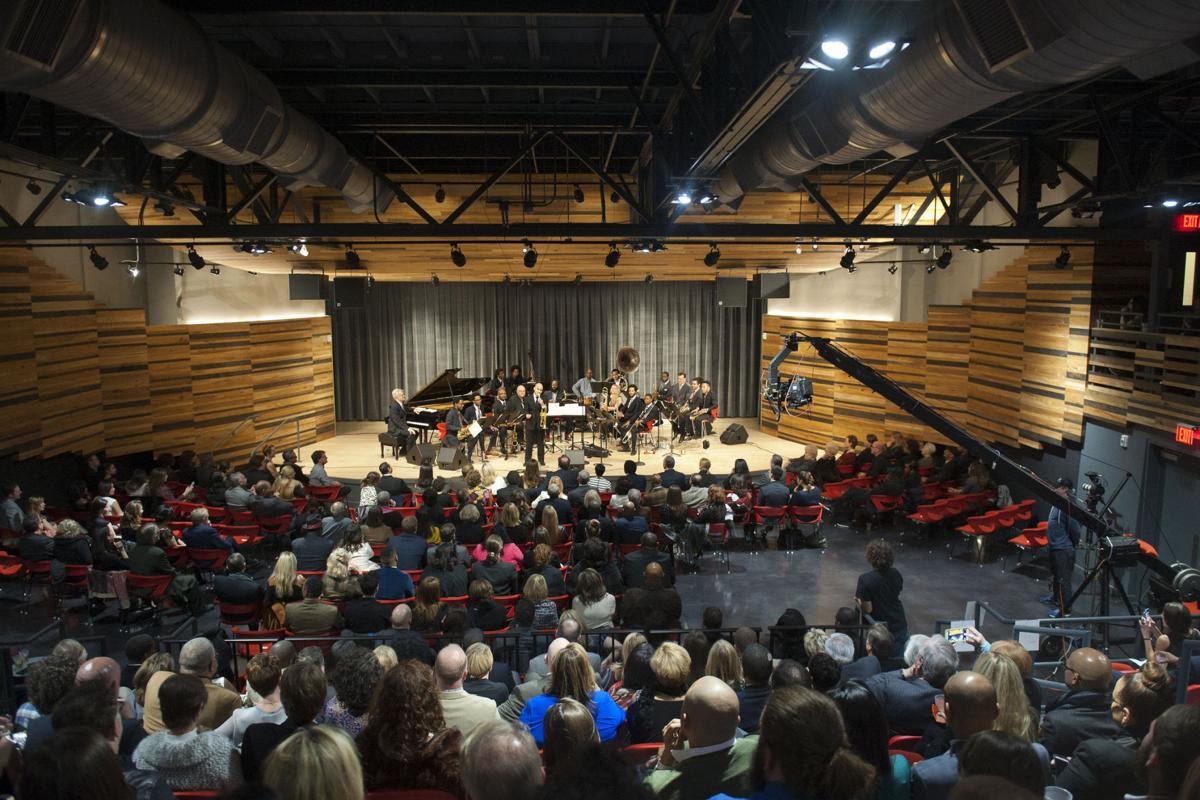 The New Orleans Jazz Orchestra debuted its new Jazz Market home with freewheeling private concert