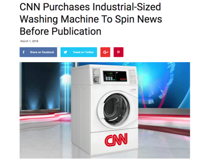 No, CNN did not buy a big washing machine to spin the news | Opinion