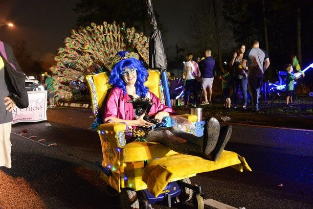 Chairy Chicks, motorized recliner Mardi Gras parading group