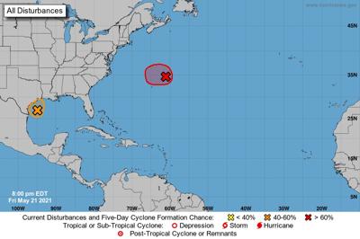 National Hurricane Center update, May 21, 2021, 7 p.m.