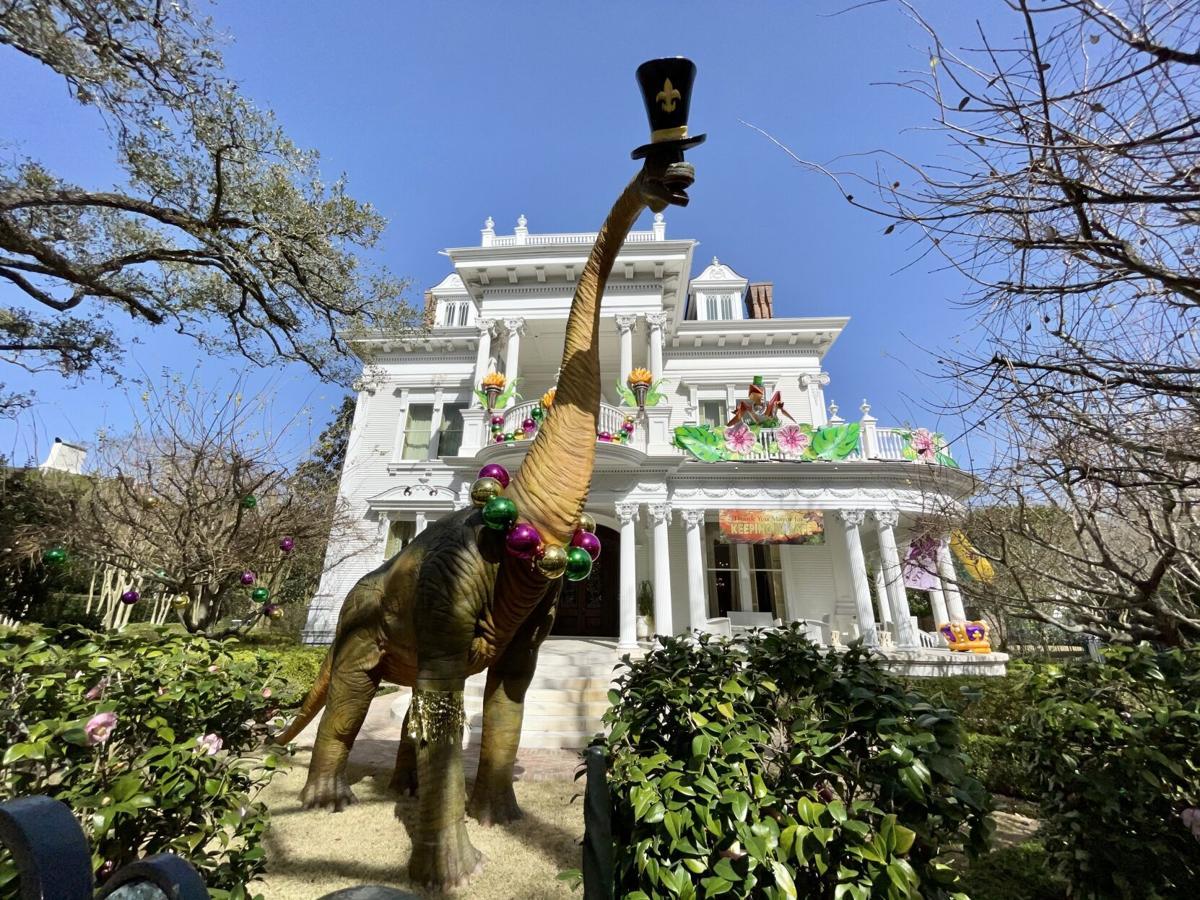 'Dino Gras on the Avenue,' Mardi Gras float house, 5809 St. Charles Ave. 1 STAFF PHOTO BY DOUG MacCASH.jpeg