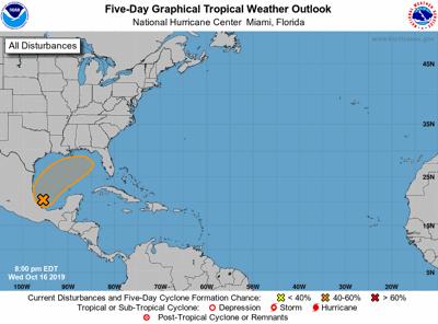 Tropical disturbance on Oct. 16 evening