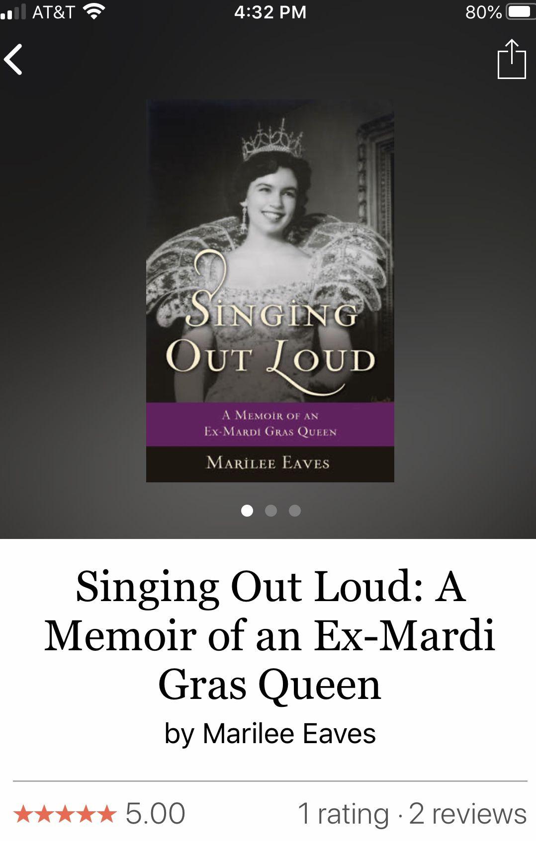 Singing Out Loud by Marilee Eaves