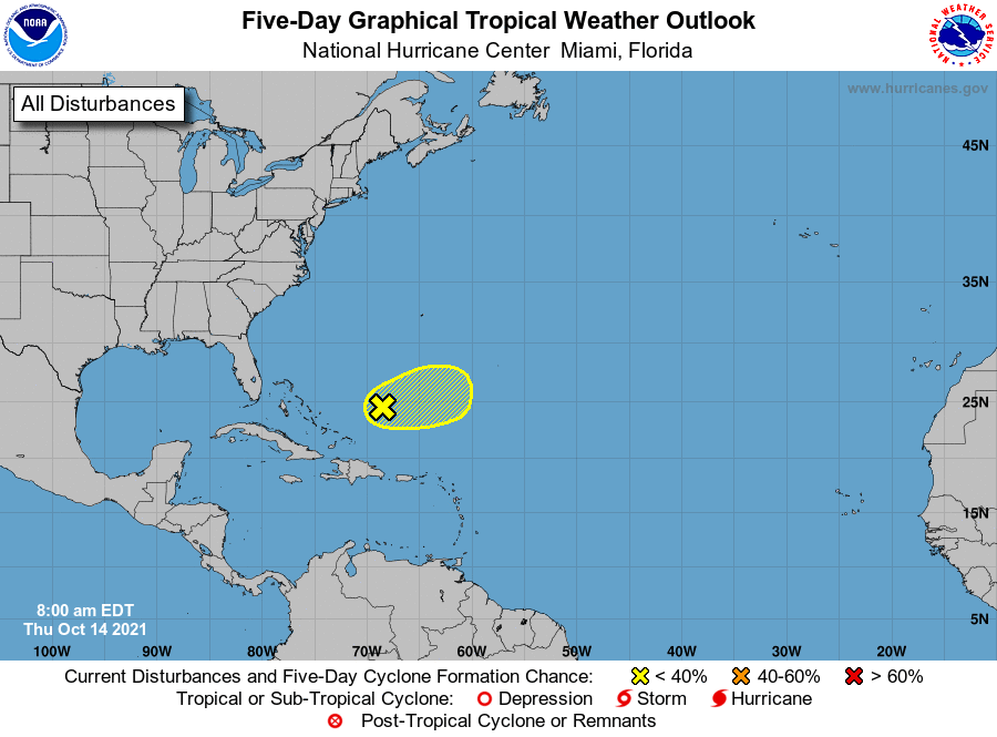 Tropical weather outlook 7am Oct 14