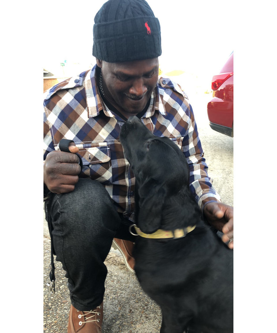 Exonerated after almost 38 years, man reunited with dog he raised at Angola
