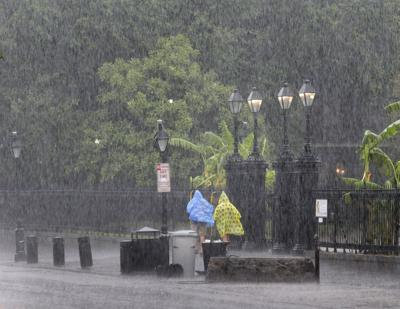 Rain in the French Quarter