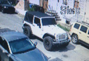 Jeep allegedly involved in triple shooting on Pauger Street