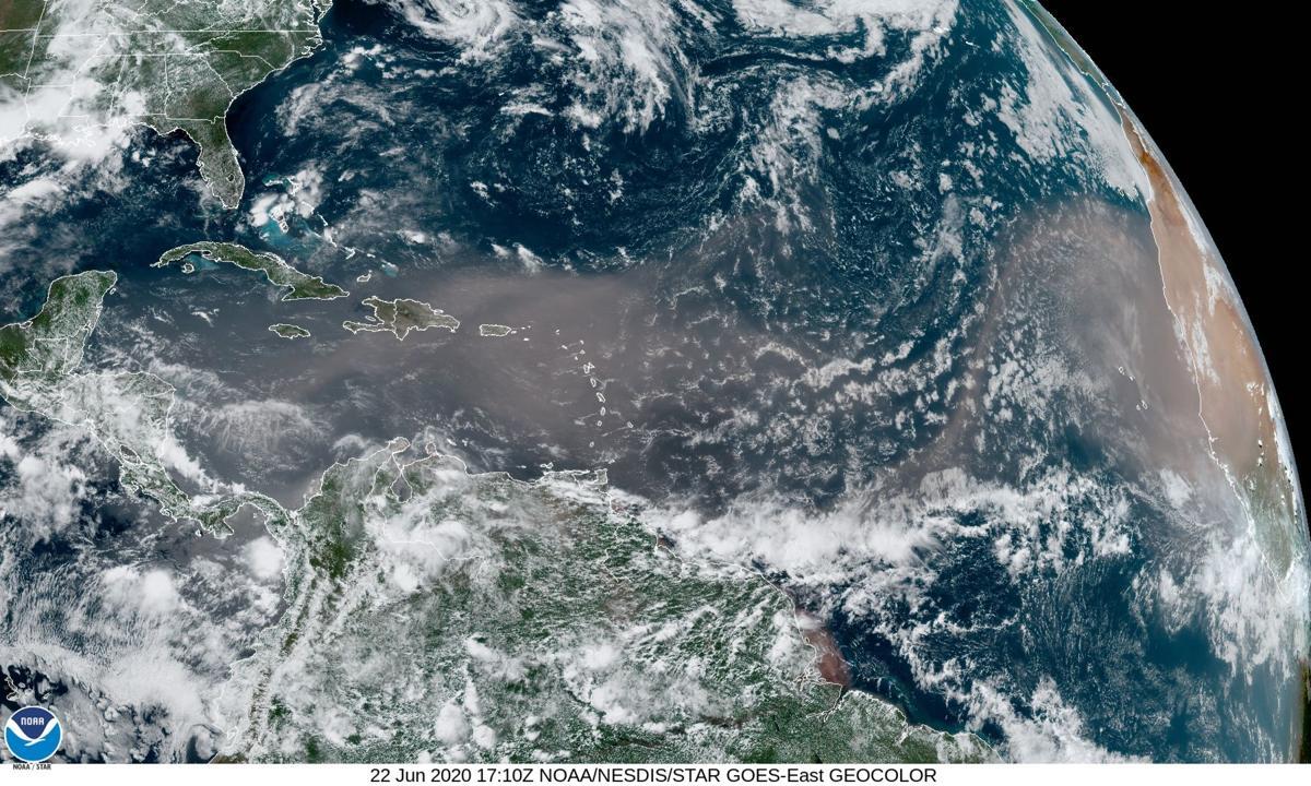 Saharan dust plume over the Atlantic