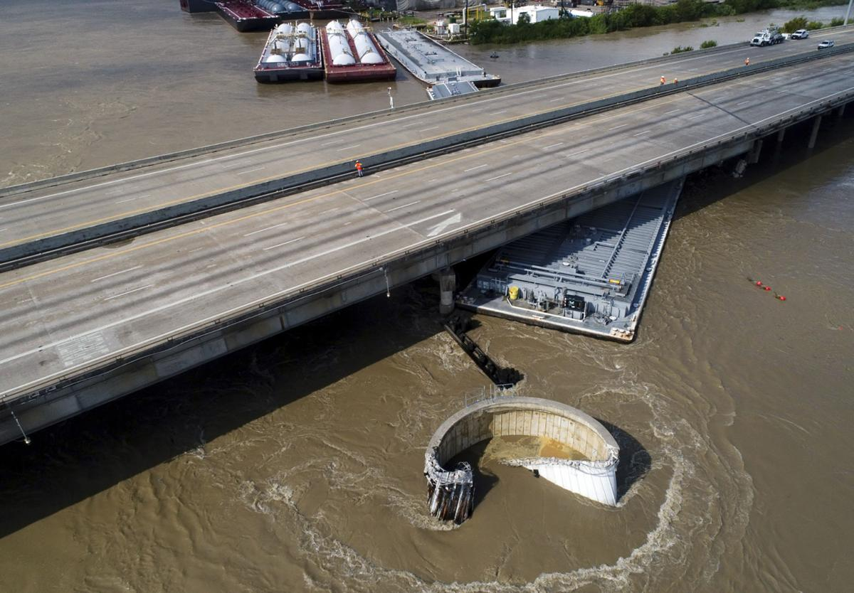 Interstate 10 hit by bridge in Texas