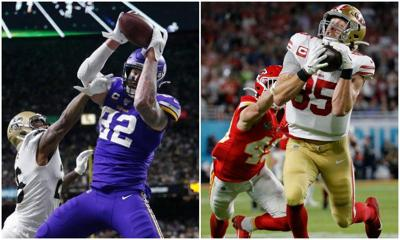 Kyle Rudolph and George Kittle