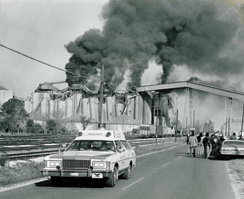 Continental Grain elevator at Nine Mile Point exploded Dec. 22, 1977