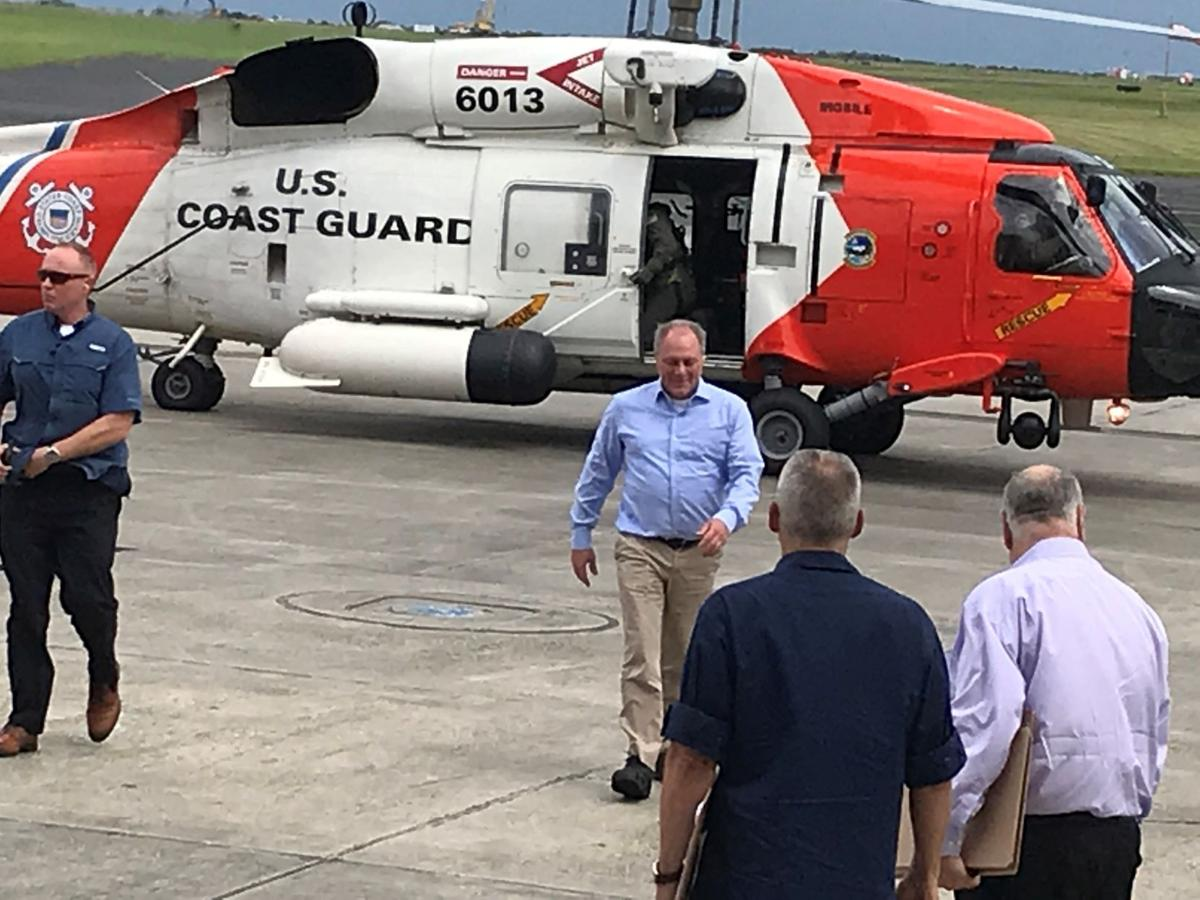 U.S. Rep. Steve Scalise after touring levee system