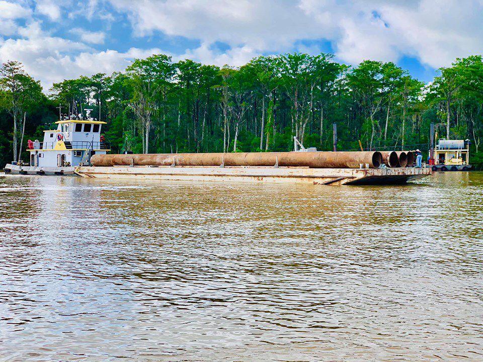 Bayou Chene barge