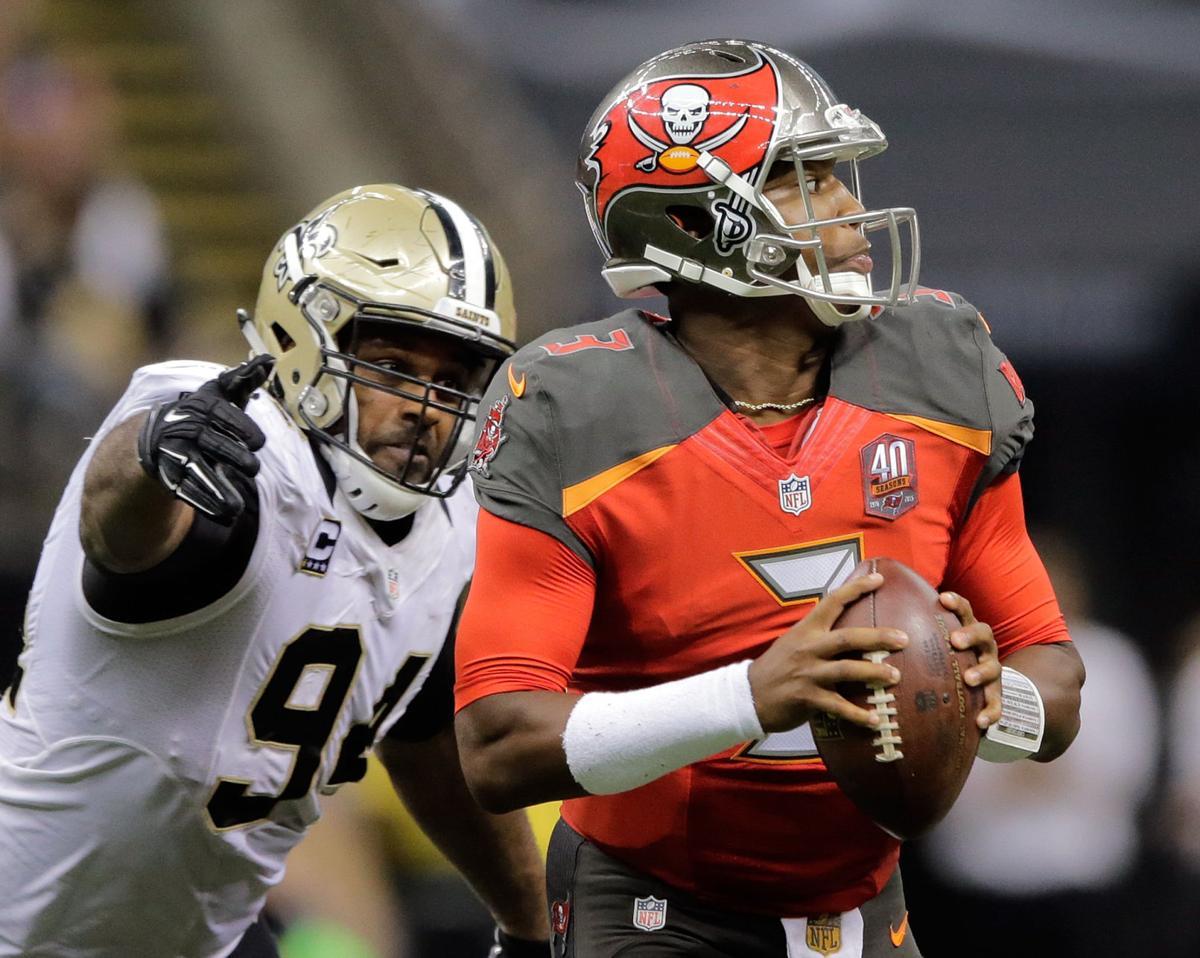 Saints vs Buccaneers Cam Jordan sacks Jameis Winston, Saints vs