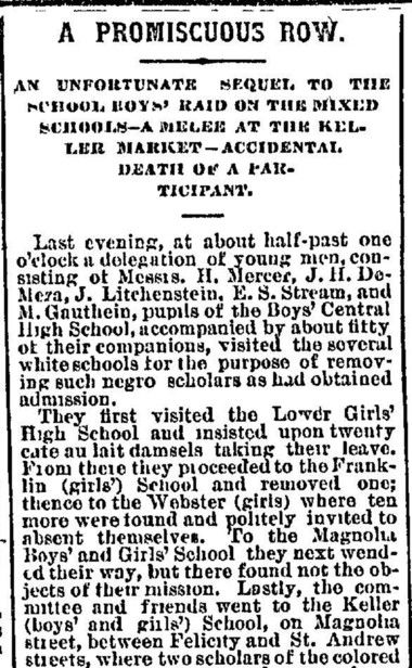 The desegregation of New Orleans schools -- in the 1870s