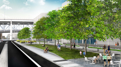 See plans for Convention Center Boulevard linear park