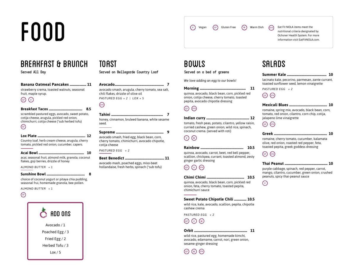 daily beet magazine menu