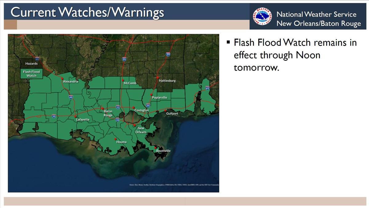 Flash flood watch in effect through noon Thursday