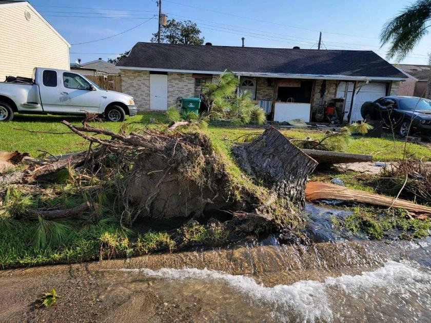 In upper Jefferson Parish, what happened to sewer, water infrastructure after Hurricane Ida?