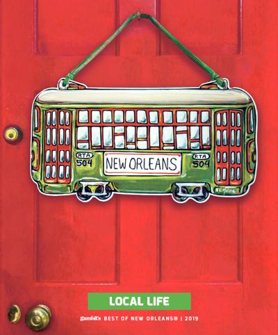 Green Streetcar Door Hanger