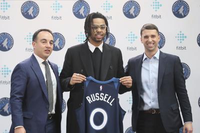 Timberwolves Russell Basketball
