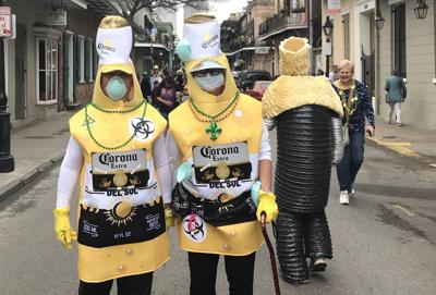 Carnival 2020 costumes conflated the coronavirus with Corona beer (copy)