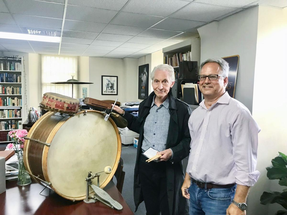 Rolling Stones drummer Charlie Watts visits New Orleans Jazz Museum
