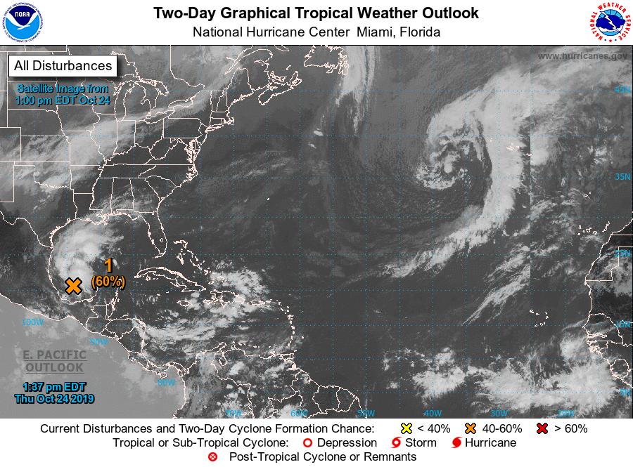 tropics Oct. 24 2 pm