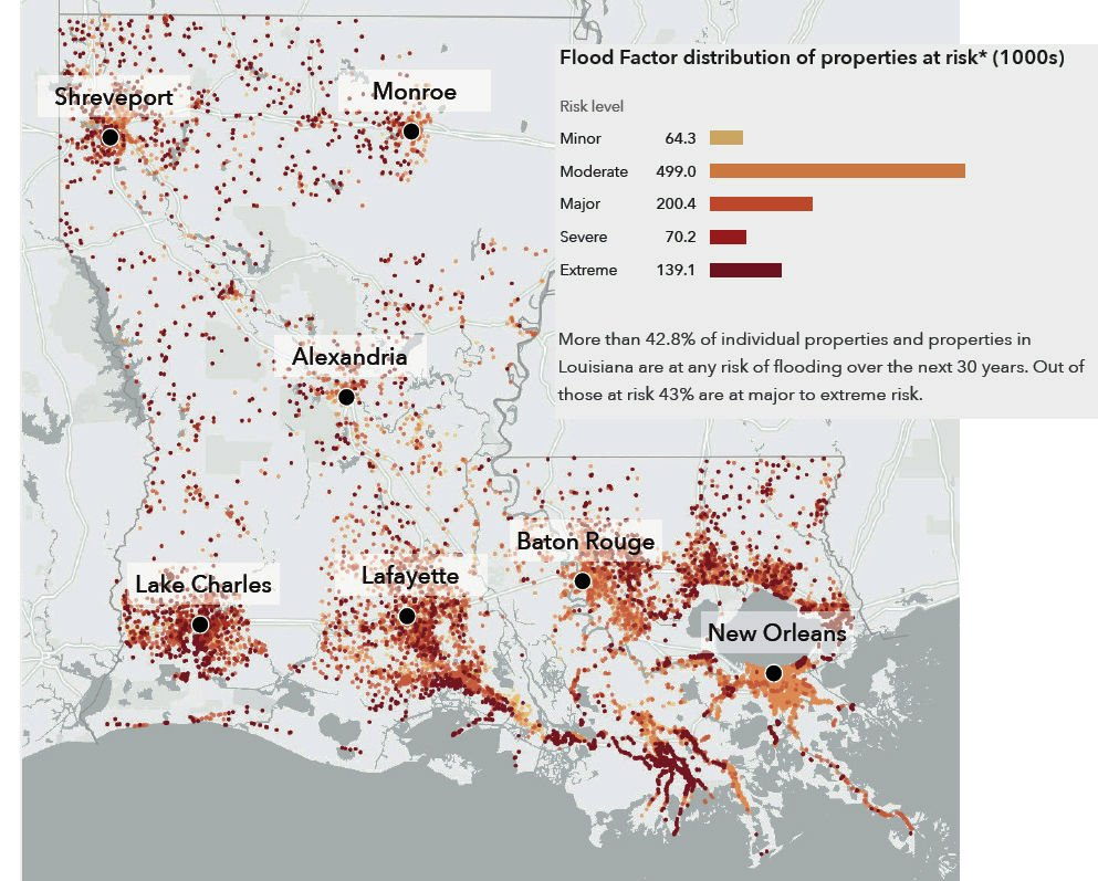 Louisiana properties at risk