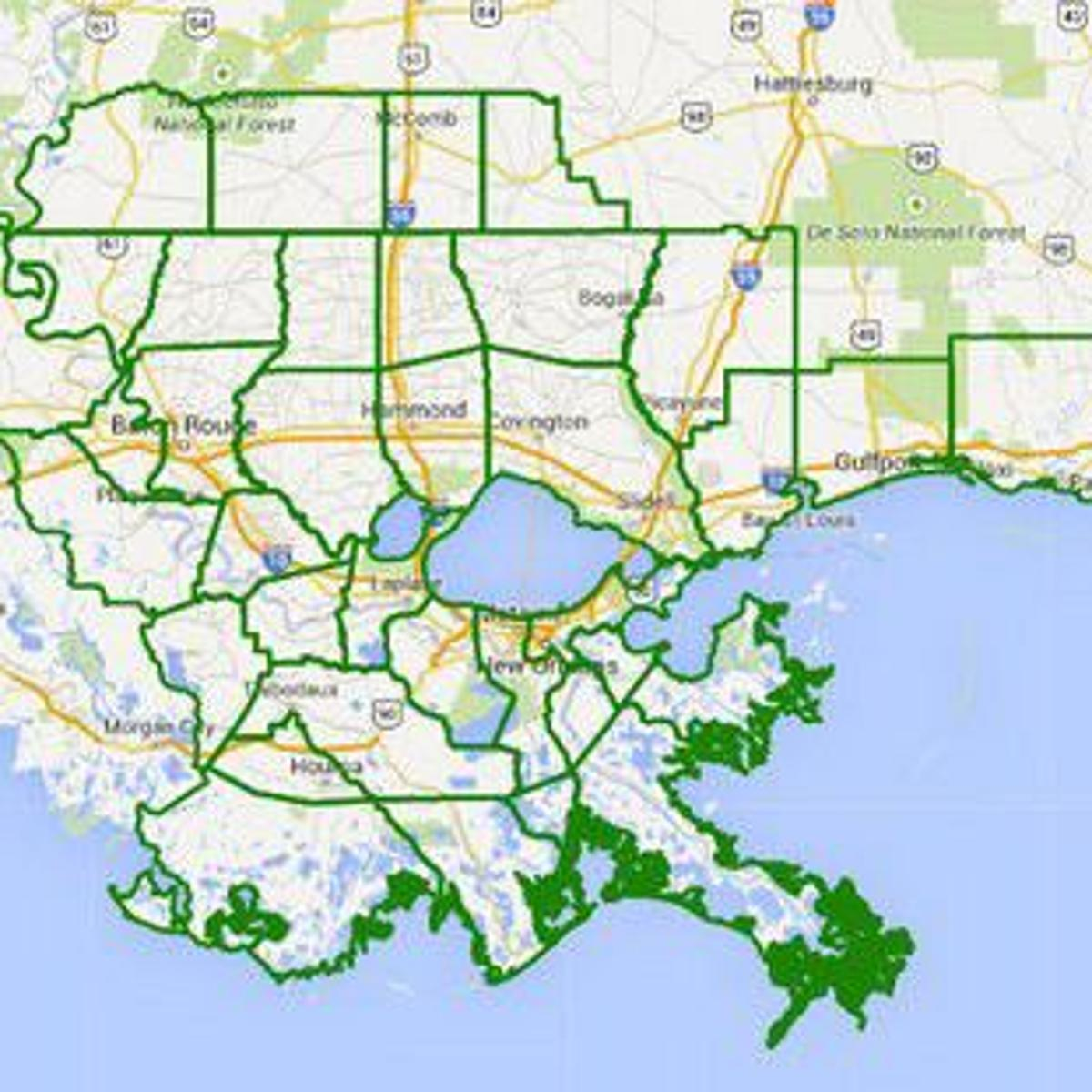map of southeast louisiana Flood Watch For Southeast Louisiana Southern Mississippi From map of southeast louisiana