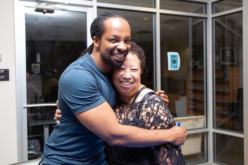 Dillard alum Jericho Brown with Lisa Mona Saloy