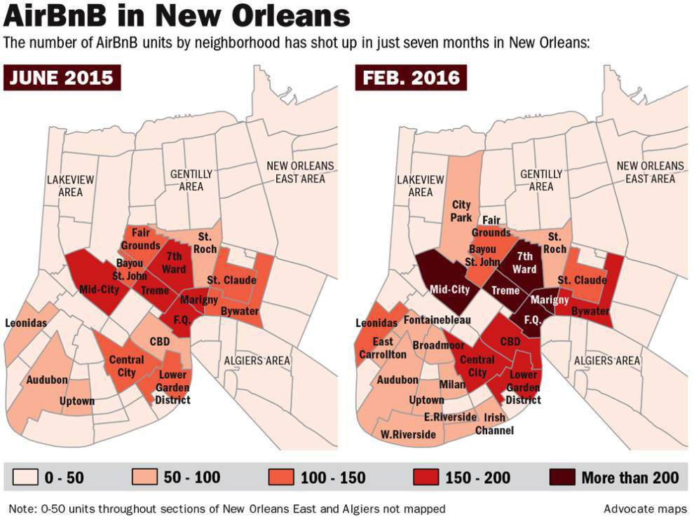 Airbnb rentals in New Orleans growing at explosive rate