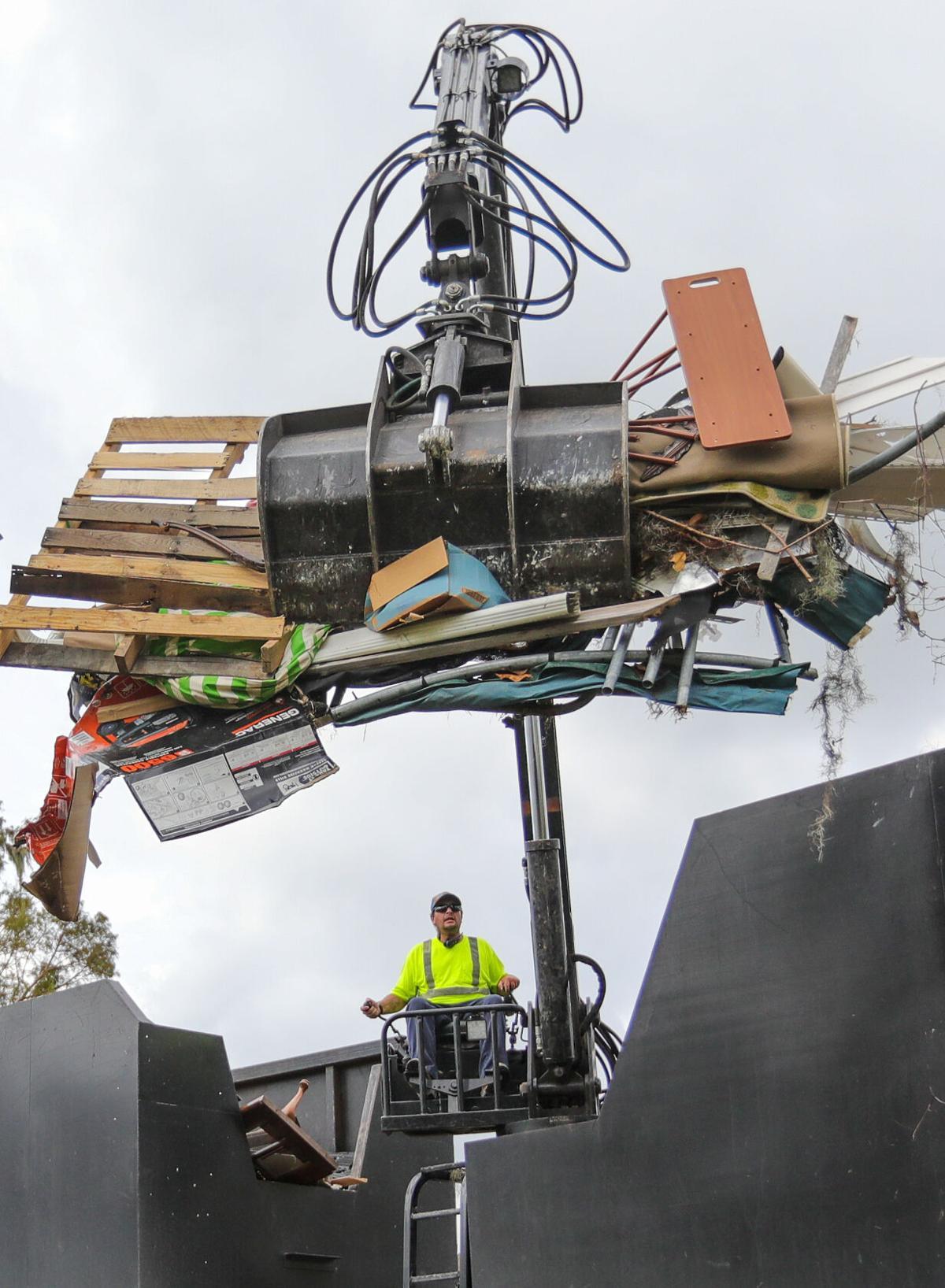 Hurricane Ida debris collection in the River Parishes