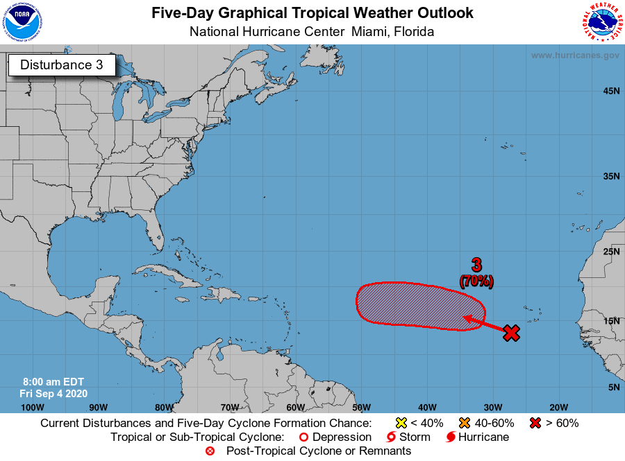 Tropical wave by Cabo Verde Islands 7am Friday