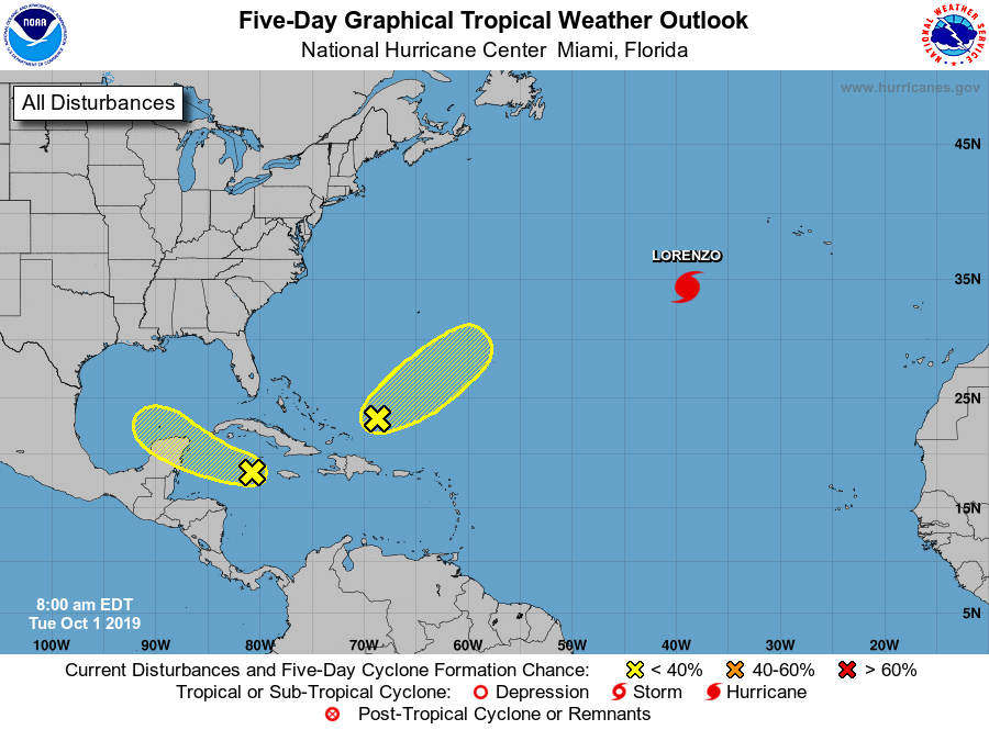 Tropical weather 100119 7am outlook