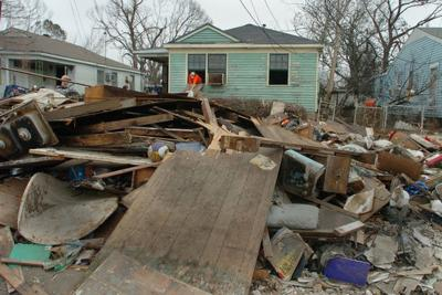 Powerful forces blocked a proposal to recycle debris from Hurricane Katrina