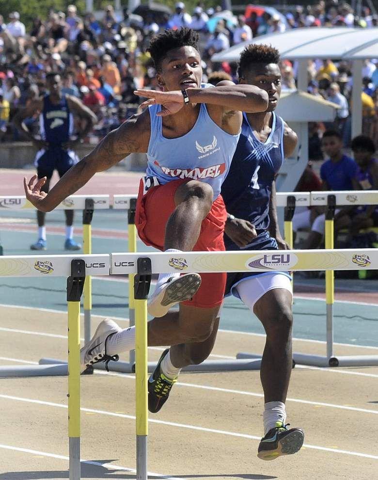 Rummel's Kristian Fulton wins 300 hurdles title _lowres