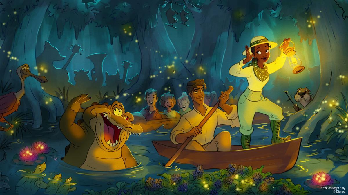 Princess Tiana ride at Disney