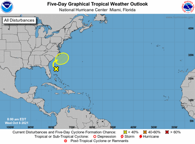 Tropical weather outlook 7am Oct 6