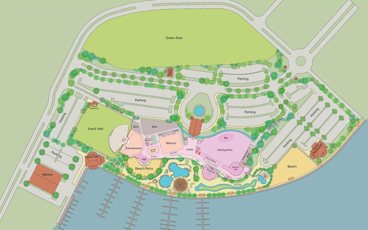 Proposed site plan for Slidell area casino