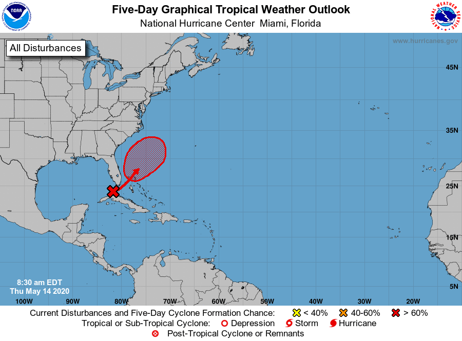 Tropical weather outlook Thursday morning