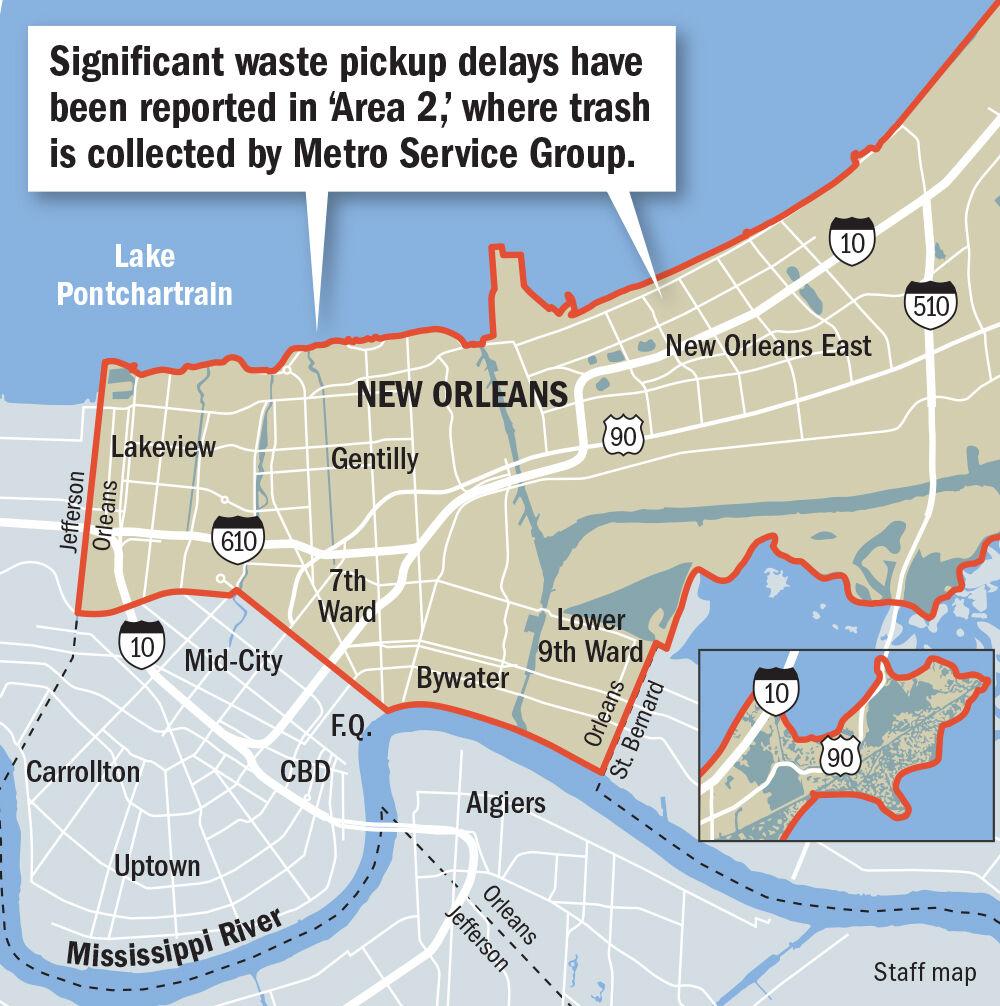 Trash Pickup Area 2 map