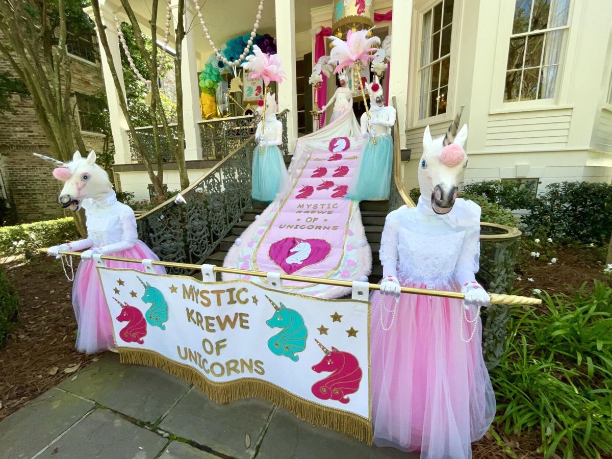 'Mystic Krewe of Unicorns' Mardi Gras house float, 5400 block, St. Charles Ave., STAFF PHOTO BY DOUG MacCASH.jpeg