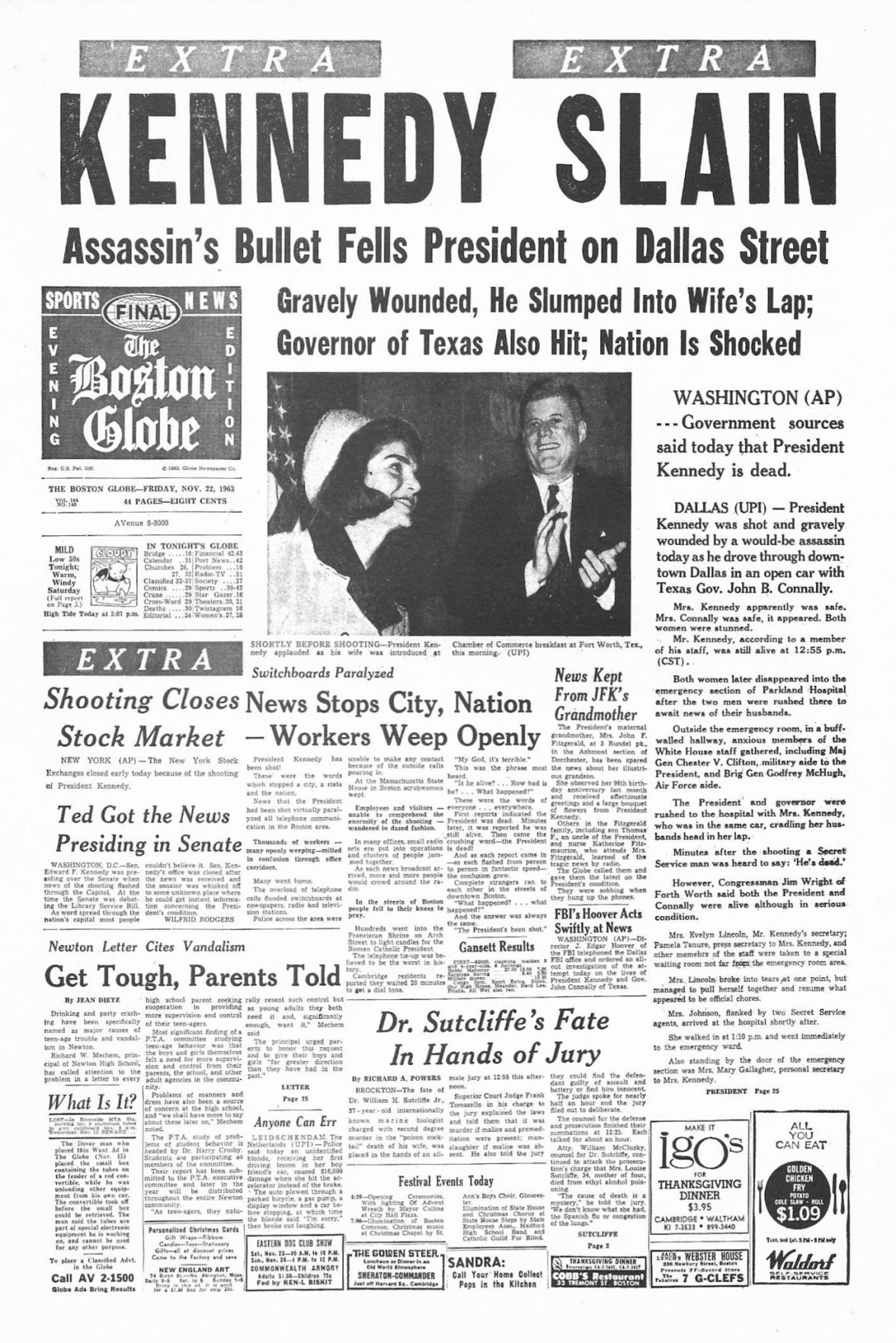 JFK assassination: Famous front pages, 50 years later | Local