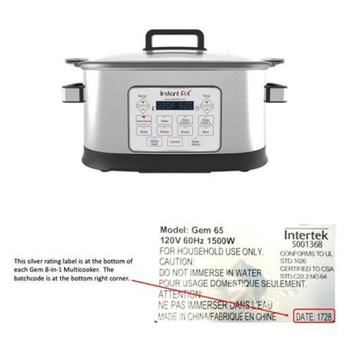 Fire hazard prompts recall of 104,000 slow cookers sold at Walmart